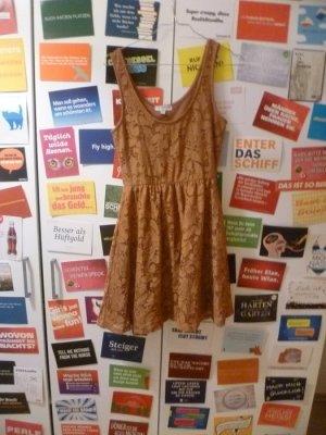 Braunes Spitzenkleid von Cotton On, Häkel, Romance, Vintage, Lace, Rost