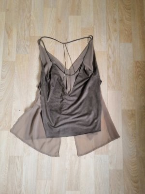 Zara Backless Top grey brown