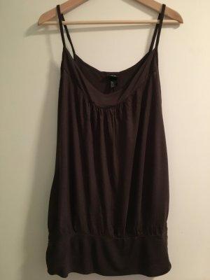 H&M Top de tirantes marrón oscuro