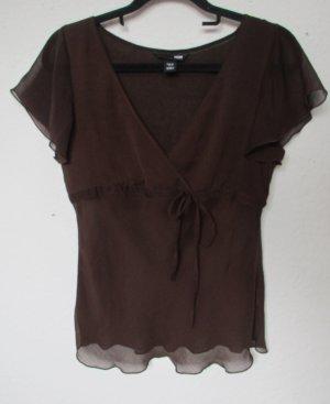 Braunes transparentes Blusen Shirt von H&M
