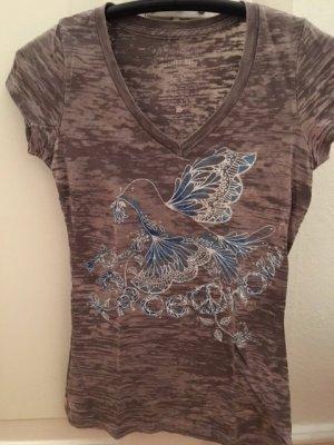 Dorothy Blue V-hals shirt wit-blauw Gemengd weefsel