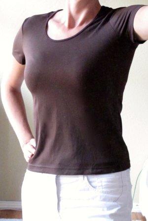 Braunes, vielseitiges Qualitäts-T-shirt