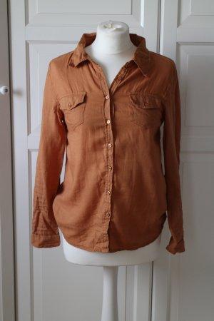 Braunes warmes Hemd von Amisu
