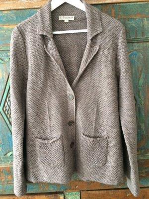 Comma Knitted Blazer grey brown