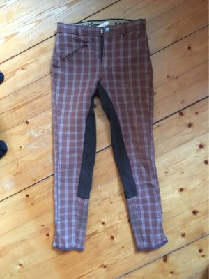 Pantalone da equitazione marrone-marrone chiaro