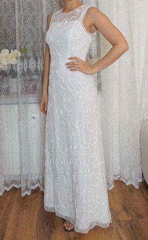 Braut-/Abendkleid, weiß, Gr. S