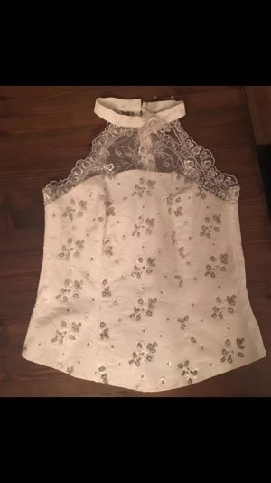 Corsage Top oatmeal-white