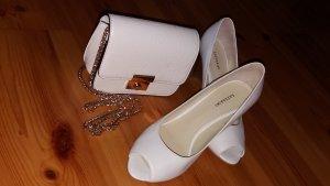 Braut-/Festtagsschuhe der Marke Lazzarini mit gratis kleiner Handtasche dazu