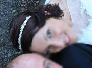 Braut-Haarreif von Poirier mit Strass und Perlen besetzt