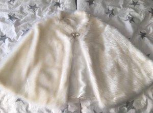 Chaqueta de piel blanco-blanco puro