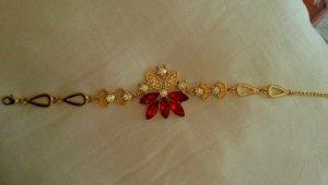 Collier oro-rosso
