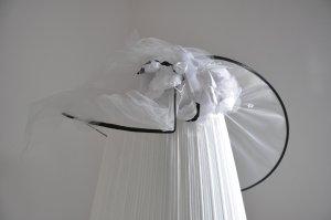 Hat white-black