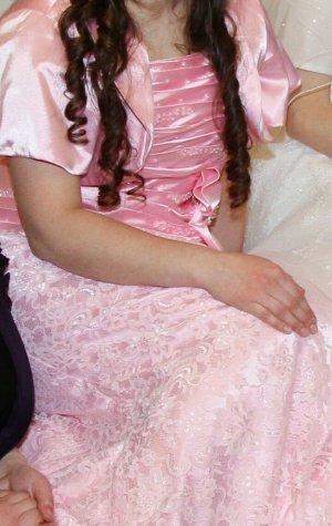 Robe de soirée rose clair-rose