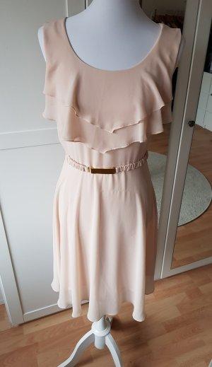 H&M Abito di chiffon rosa pallido