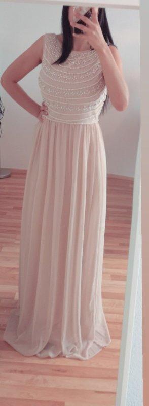 Brautjungfernkleid Abendkleid Couture NP:260€ Gr. 40 mit Etikett rose beige