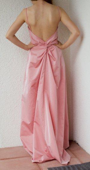 Brautjungfernkleid rosa Hochzeit rose Rückenausschnitt