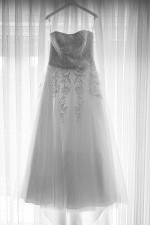 Agnes Vestido línea A blanco