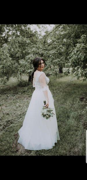 -8- Venice Vestido de novia blanco Algodón