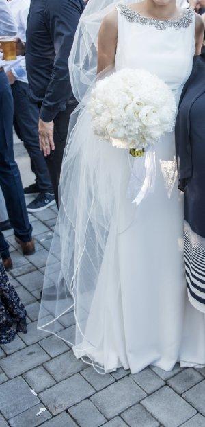 Pronovias Vestido de novia blanco Seda