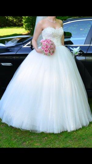 Vestido de novia blanco puro-blanco
