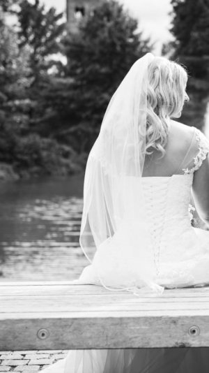 Lohrengel Abito da sposa bianco