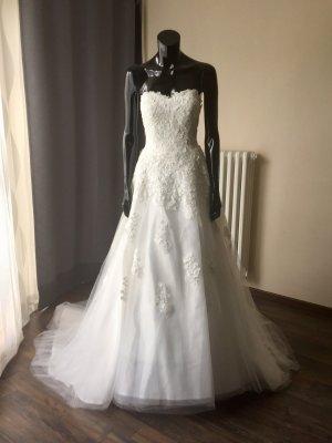 Brautkleid A-Linie - Ivory - Gr. 38 bis 42 - Schnürung - Neu