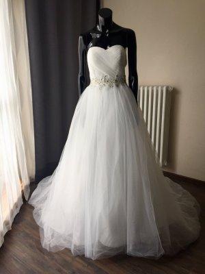 Brautkleid A-Linie - Ivory - Gr. 38 - Schnürung - Neu