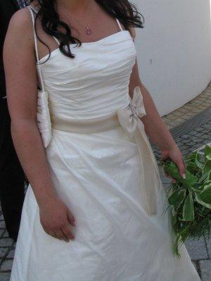 Robe de mariée multicolore soie