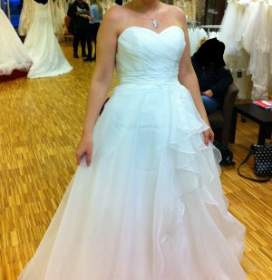 Just for you Wedding Dress natural white mixture fibre