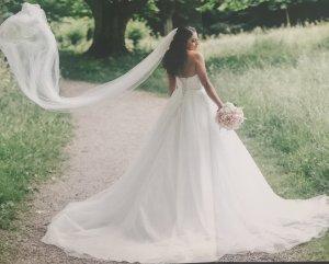 Brautkleid A-Linie Prinzessinnenkleid Gr.32-36