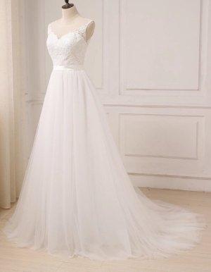 Brautkleid A-Linie - UVP 799€ - Ivory - 36 - Neu