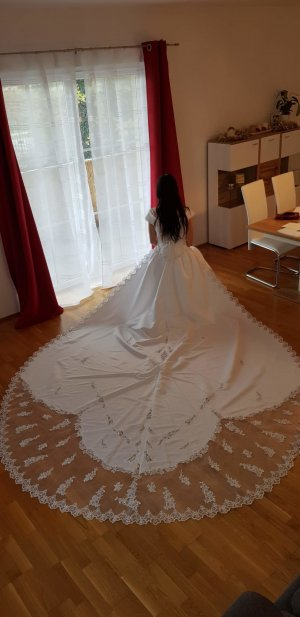 A-Z Abito da sposa bianco