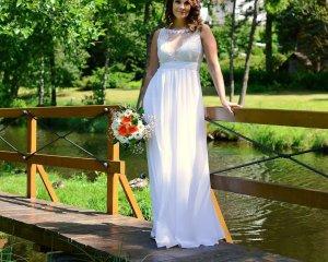 Brautkleid Abendkleid Spitze Lang weiß 40 (12)