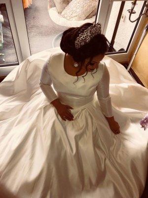 Robe de mariée blanc-blanc cassé soie
