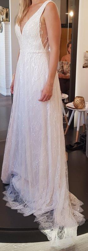 Vestido de novia blanco Seda