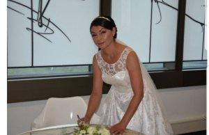 Brautkleid aus Tüll und Spitzen