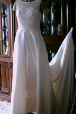 Wedding Dress natural white-pale yellow polyester