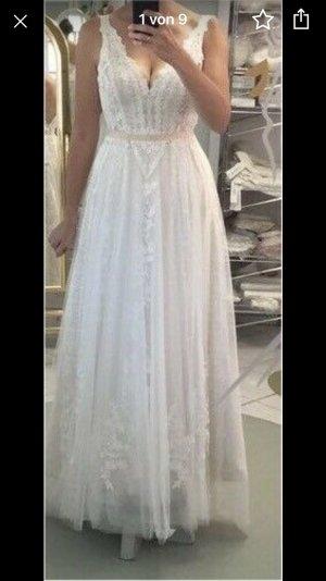 Vestido de novia blanco-crema