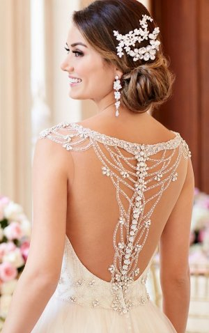 Brautkleid by Stella York, ballgown, Ivory, Größe 36