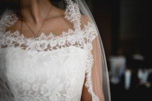 Vestido de novia crema Poliéster