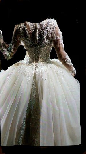 Brautkleid Champagner-Weiß