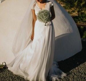 Brautkleid Cymbeline Angel Größe 36 mit Tüllschleier