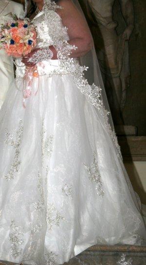 Wedding Dress cream textile fiber