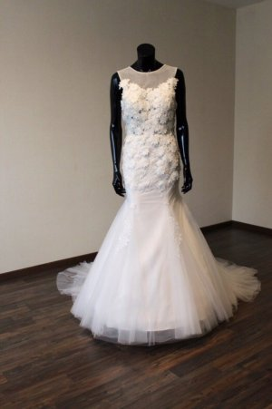 Brautkleid Fit&Flare/Meerjungfrau - UVP 899€ - Ivory - 38 - NEU