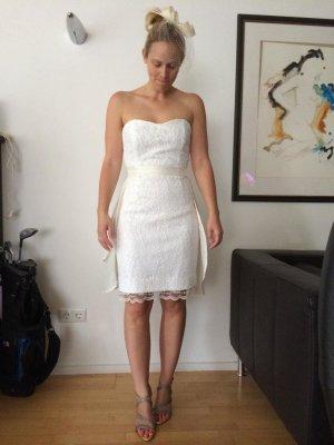 Vestido de novia blanco puro tejido mezclado