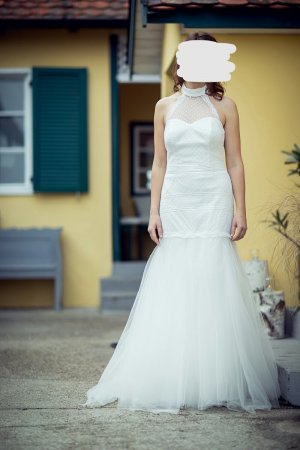 Wedding Dress natural white mixture fibre