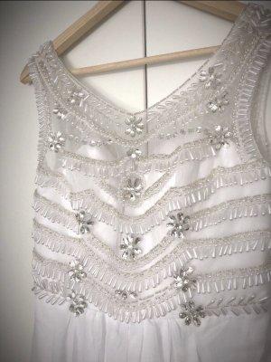 Robe de mariée blanc-argenté