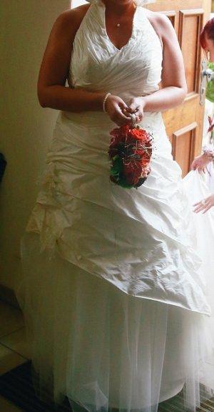 Abito da sposa crema-bianco