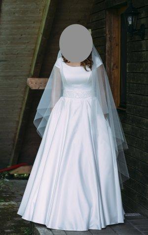 Robe de bal blanc polyester