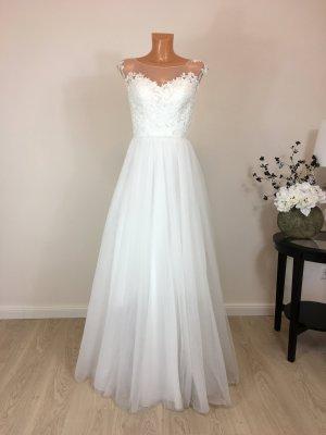 Brautkleid Hochzeitskleid Bohemian Boho Vintage Style Gr. 36 Weis